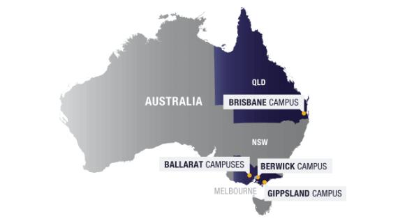 澳大利亚联邦大学校区地图