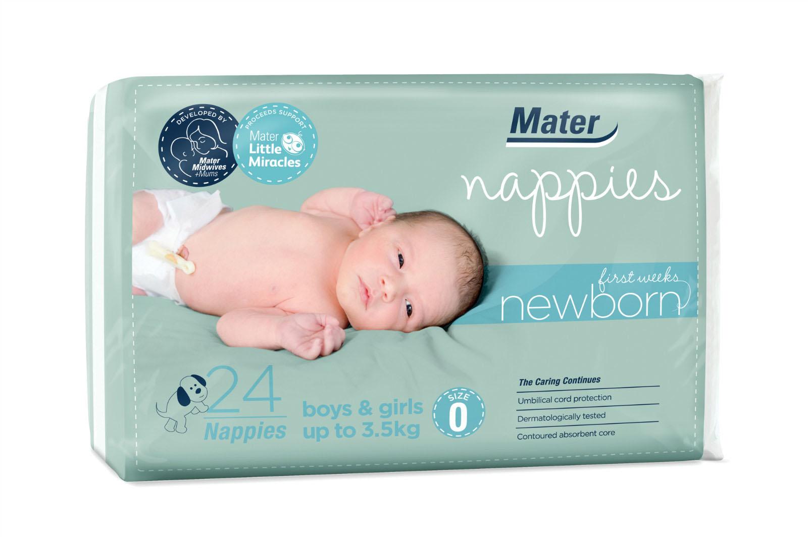 大小为零#适用于新生婴儿的Mater Nappy