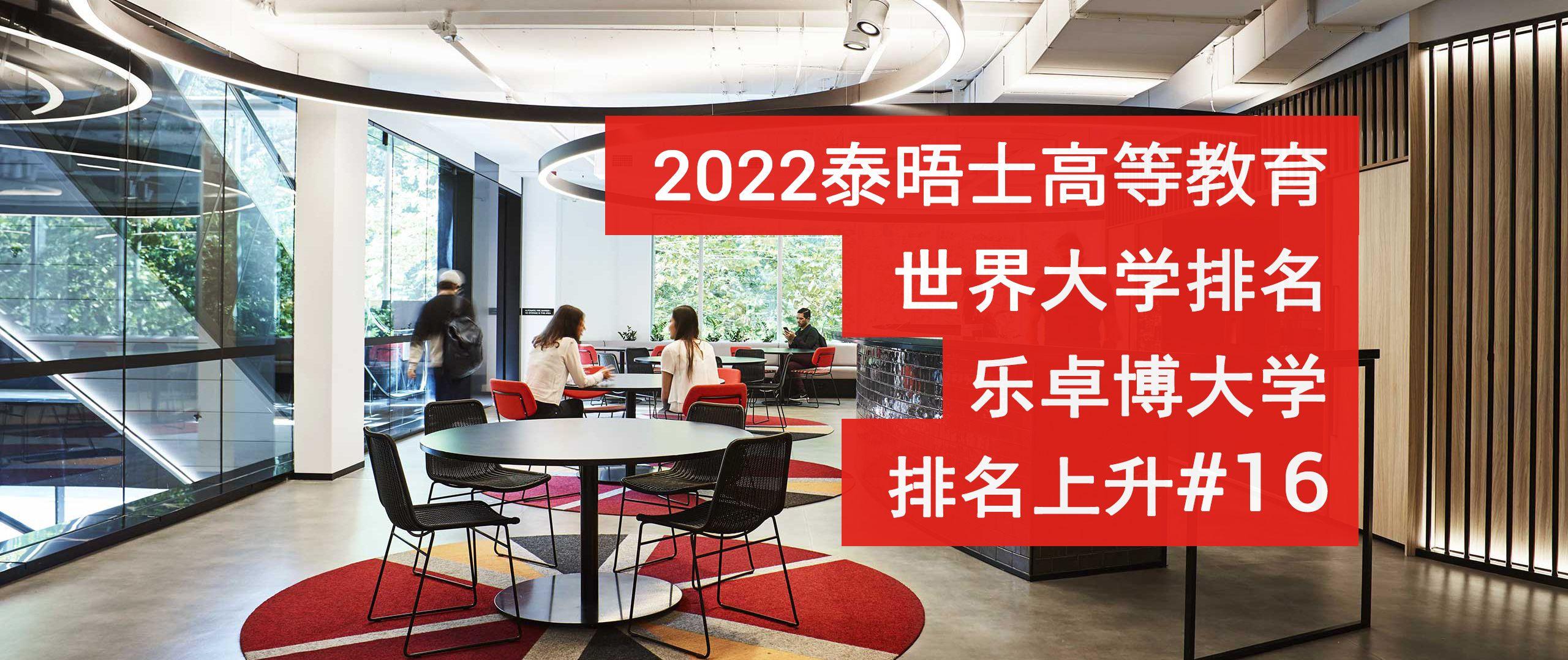 2022年泰晤士世界排名结果出炉!乐卓博跻身维州前三!